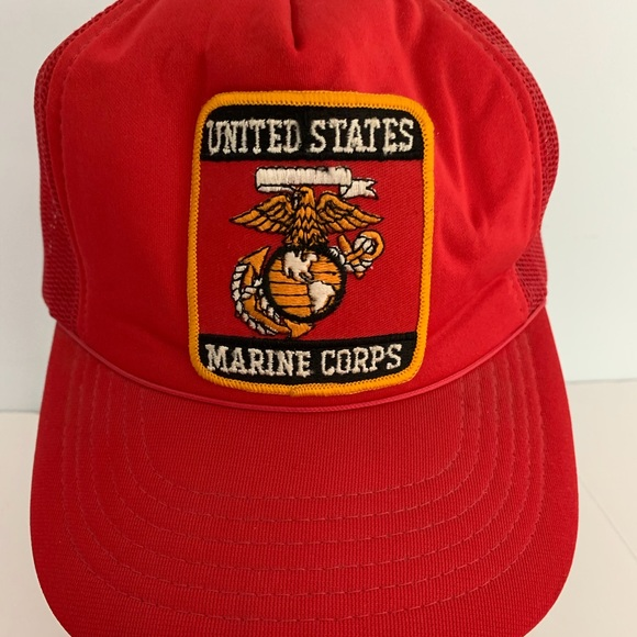 US Marine Corps Patch Mesh Trucker Hat Snapback